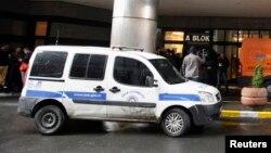 Полицейский автомобиль в Турции.