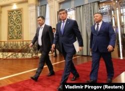 Садыр Жапаров, Сооронбай Жээнбеков, Канатбек Исаев.