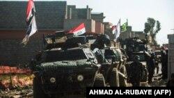نیروهای دولتی عراق در یکی از محلات غربی موصل (عکس از آرشیو)