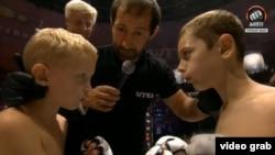 Участники детского боя без правил в Грозном