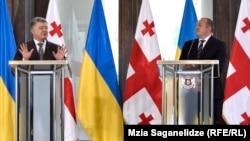 Petro Poroșenko și Giorgi Margelașvili, Tbilisi, 18 iulie 2017