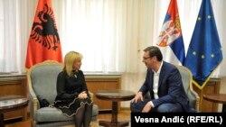 Aleksandar Vučić i Inva Mula