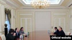İlham Əliyev Devid Krameri qəbul edir, 18 noyabr 2008