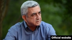 Armenia - President Serzh Sarkisian addresses participants of the Baze (Hawk)youth camp in Tsaghkadzor,17Aug2013.