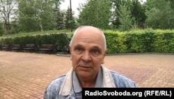 Житель Донецька у парку Щербакова