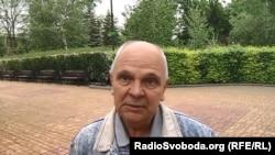 Житель Донецка в парке Щербакова