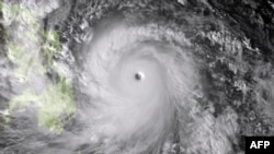 This image of Typhoon Haiyan wsa taken by the Japan Meteorological Agency,