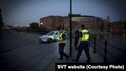 Полицейские в Стокгольме