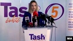 Портпаролката на Централниот штаб на коалицијата Алијанса за Албанците/Алтернатива, Нурџан Асановска