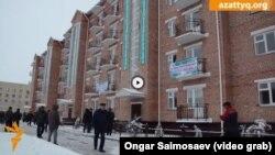 Дом, в котором многодетная мать Шолпан Сайымовой получила квартиру. Кызылорда, 30 декабря 2015 года.