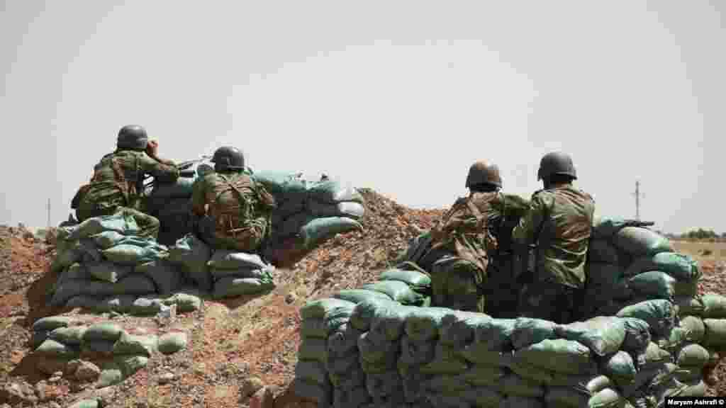 آخرین سنگرهای پیشمرگه در مقابل مواضع داعش: روستای بشیر جنوب غرب کرکوک