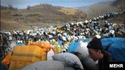 کولبر ها در منطقه مرزی ایران و عراق