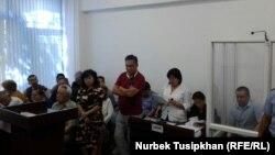 Судебное заседание по делу казахстанского журналиста Жанболата Мамая. Алматы, 14 августа 2017 года.