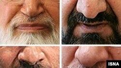 Сол бурчтан саат жебеси боюнча: Каруби, Мусави, Резаи, Ахмадинежад. Бүгүн ушул төрт талапкердин кимиси президент шайланат?