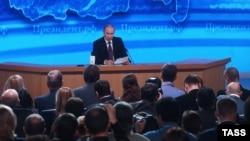 Пресс-конференция президента России Владимира Путина. Москва, 18 декабря 2014 года.