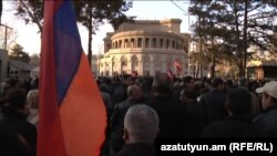 Armenia -- The opposition Armenian National Congress (HAK) holds a rally in Liberty Square. 08Apr., 2011
