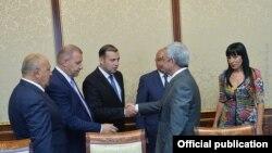 Встреча президента с представителями ППА (Фотография - пресс-служба президента Армении)