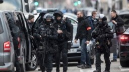FRANCE - French police forces take position in the Neudorf district of Strasbourg, eastern France, December 13, 2018