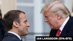 Presidenti i Francës, Emmanuel Macron dhe presidenti i SHBA-së, Donald Trump.
