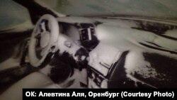 Оренбур юлында калган машина