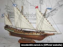 """Императорская яхта """"Десна"""". 1787"""
