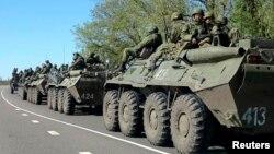 Російські військовослужбовці біля російсько-українського кордону, квітень 2014 року