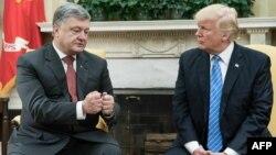 Президенттер Порошенко жана Трамп. 20-июнь, 2017-жыл.