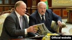 Генадзій Зюганаў і Аляксандар Лукашэнка