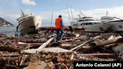 Раніше негода пройшла північчю Італії. На фото – гавань у місті Рапалло, 30 жовтня 2018 року