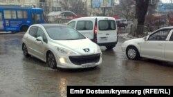Ukraine, Crimea - Simferopol Street, 11Jan2015