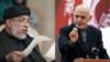 محمد اشرف غنی رئیس جمهوری افغانستان و شیر محمد عباس ستانکزی عضو ارشد دفتر سیاسی گروه طالبان در قطر.