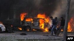 صحنه یکی از انفجارهای قبلی در دمشق