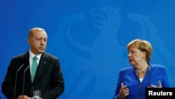 Recep Erdogan și Angela Merkel, Berlin, 28 septembrie 2018
