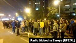 Протестите пред Владата во Скопје.