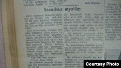 «Kommunist» qəzetinin 1938–ci il 15 aprel tarixli sayı