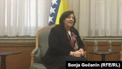 Ambasadorica Bosne i Hercegovine u Beogradu Aida Smajić na sastanku sa premijerkom Srbije Anom Brnabić, 29. novembar 2019.