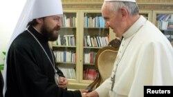 Папа Францішак і мітрапаліт Іларыён