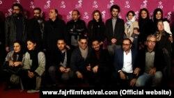 عوامل فیلم «ابد و یک روز» روی فرش قرمز معرفی این فیلم در جشنواره سیوچهارم فیلم فجر