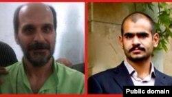 کسری نوری (راست) و صالح مرادی، سه ماه در اعتصاب غذا بهسر بردند.