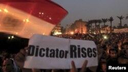 Увечері, вже після сутичок, мітинг на площі Тахрір тривав далі, 27 листопада 2012 року