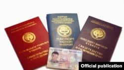 Кыргызские паспорты.