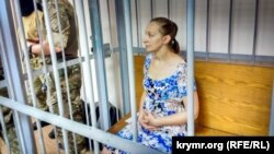 Елена Одновол в суде на материковой Украине. 19 июня 2018 года