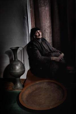 Котиева Тамара, 1935 г.р. Аул Инарки. Портрет работы Дмитрия Белякова. 4 января 2014