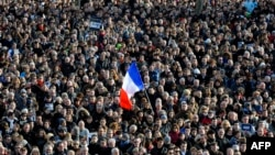 Під час акції у французькому місті Ренн, 15 січня 2015 року