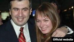 Arxiv fotosu: Mikheil Saakashvili və xanımı Sandra Roelofs