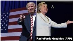 از راست: کلینتون و ترامو