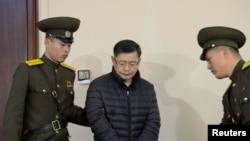 Хен Су Лім у суді Північної Кореї