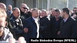 Naser Orić napušta zgradu Suda BiH, 9. oktobar 2017.