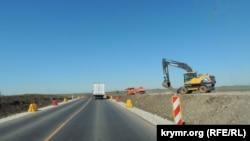 Строительство подъездной дороги к строящейся трассе «Таврида», иллюстрационное фото