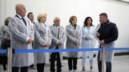 Viorica Dăncilă la inaugurarea bursei de pește de la Tulcea, închisă câteva zile mai târziu